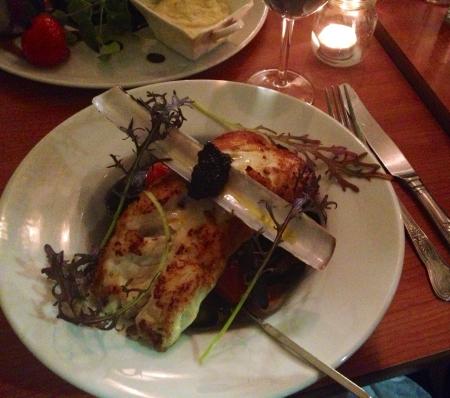 Kilmore Quay hake, caviar, sauteed mussels, organic leeks.