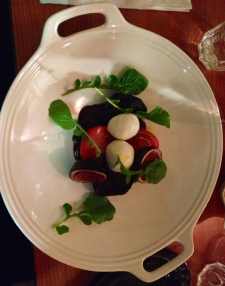 St Tola goat's cheese and beetroot starter.