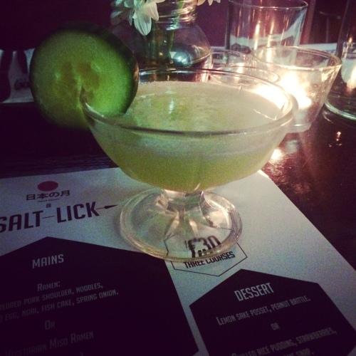 Wasabi Martini. Not a Dyno-Rod in sight.