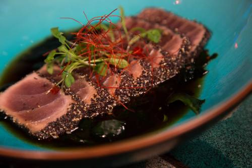 Delicious Tuna Sashimi.